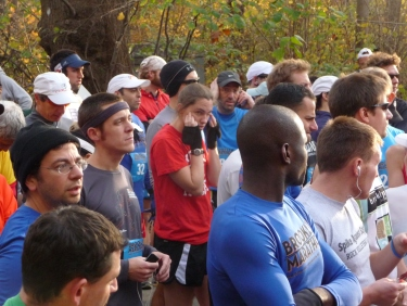 Before the 2011 Brooklyn Marathon. This is my