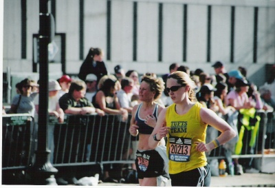 my first time running down boylston. i crossed the finish line and headed straight for a porta-potty. truth.